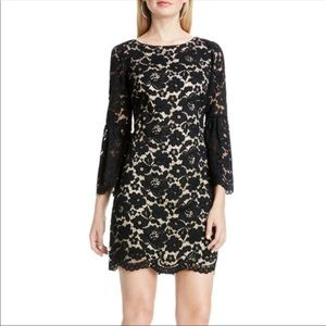 Vince Camuto Lace Bell Sleeve Dress Black Sz 10